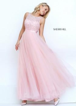 2016 Sherri Hill 50258 Glitzy Illusion Beaded Prom Dress [sherri hill 50258 blush] – $199. ...