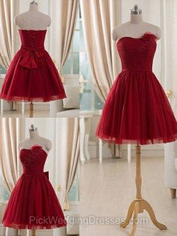 Red Bridesmaid Dresses, Wine Colour and Deep Red Dresses – PWD Bridal Boutique