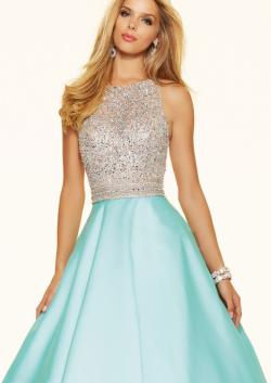 US$167.99 2016 Beading Blue Straps Sleeveless Ivory Ball Gown Satin Floor Length