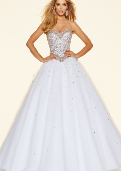 US$175.99 2016 Sweetheart Mint Ball Gown White Floor Length Sleeveless Beading Lace Up Tulle