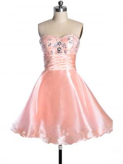 US$166.99 2015 Sleeveless Tulle Crystals Sweetheart Zipper Short Length