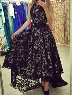 High Low Prom Dresses, Trendy Asymmetrical Gowns- DressFashion