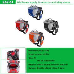 Manufacturer wholesale foramazon storeadjustable Outdoor travel dog backpack dog saddlebag