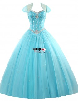 Wholesale 2017 Sweet 15 Dress Long Strapless Quinceanera Dresses Tulle Sweetheart Formal Prom Pa ...