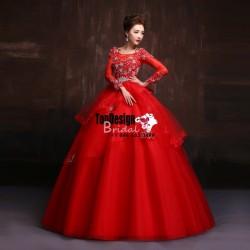 Wholesale Vestidos De Fiesta New 2017 Sweet 15 Dress Red Applique Beaded Organza Quinceanera Bal ...