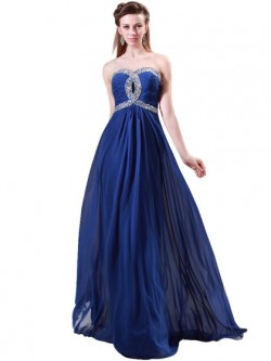 Shop Chiffon Sweetheart Floor-length A-line with Beading Ball Dresses in New Zealand