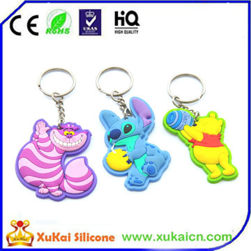 3d cartoon silicone key chain