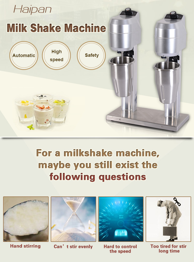 Electric portable milkshake mixers