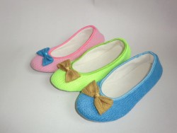 Ladies colorful indoor ballet shoes