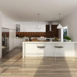 OP14-L03: Australia Project Lacquer Built-in Kitchen Cabinet