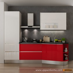 OP15-L25: Modern Simple Lacquer Kitchen Cabinet