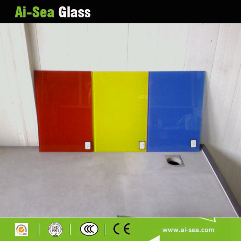 colored tempered glazing glass