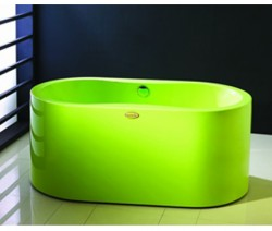 Bathtub with color