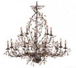 Elegant flower crystal chandelier lighting