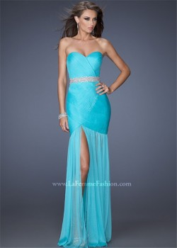 2015 Cheap Strapless Aquamarine Bodice Long Designer Prom Dresses [la femme 19764] – $212. ...
