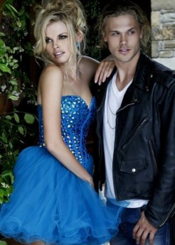 Short Blue Beaded Sherri Hill 21101 Cocktail Dresses [short royal dresses] – $155.00 : www ...