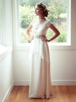 Column Wedding Dresses and Sheath Wedding Gowns by Pickweddingdresses