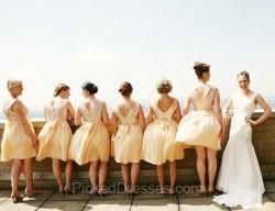 Gold Bridesmaid Dresses Canada | Pickeddresses