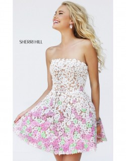 2014 Sherri Hill 11053 Flowers Prom Dresses [dress1585] – $226.00