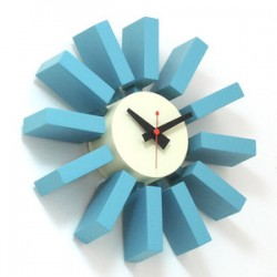 Blue Block Clock