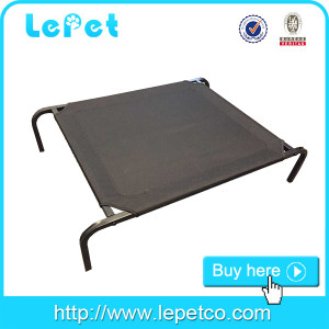Factory direct sale large steel frame orthopedic chewproof elevated dog bed
