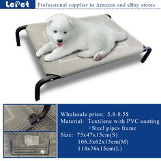 elevated dog bed,raised dog bed,Elevated Pet Dog camping cot wholesale supplier manufacturer