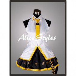 Alicestyless.com Hatsune Miku Project DIVA Teto Yellow Cosplay Costume