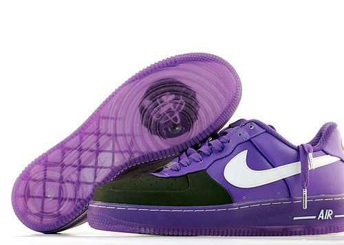Men's Nike Air Force 1 Low Shoes Purple/Black/White C07BJP,Air Force 1,Jordans For Sale,Jo ...
