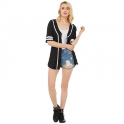 2016 Boyfriend Number Printed Baseball Cardigan Tee [16184] – $23.00 : Cheap Bandage Dress ...