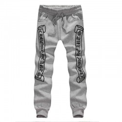 Cheap Gray Chrome Hearts Letters Printed Cotton Pants [Chrome Hearts Pants] – $165.00 : Ch ...