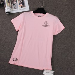Chrome Hearts Big Signature Cross Printed Pink Cotton T Shirt [Chrome Hearts T Shirt] – $1 ...