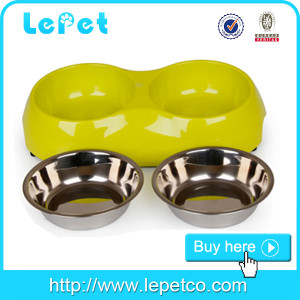 Eco-friendly Double Dog Cat Food/Water Feeder Raised Travel Bowl