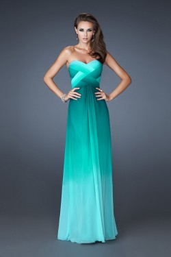Multi-Tonal Ombre Long Jade La Femme 18525 Prom Dresses for Cheap [La Femme 18525] – $179. ...