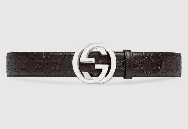 Replica Gucci Signature Leather Belt For Men