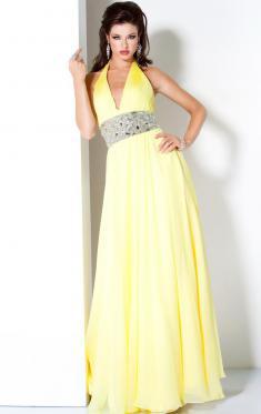 A-Linie Gelb Abendkleider für Frauen Online