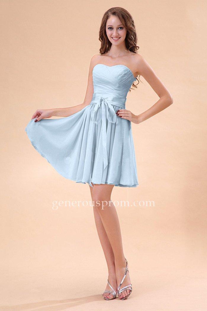 A-line Cute Ice Blue Sweetheart Mini Homecoming Dresses