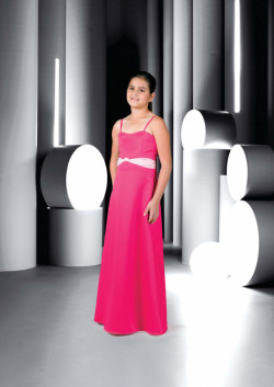 US$95.99 2015 Fuchsia Sleeveless Spaghetti Straps Chiffon Ruched Floor Length