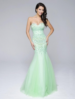 US$162.99 2016 Mermaid Sweetheart Sleeveless Beads Zipper Tulle Floor Length