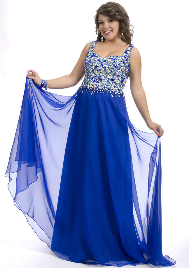 US$158.99 2015 Open Back Crystals Straps Chiffon Floor Length Blue Sleeveless