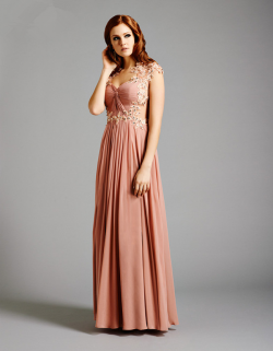 US$173.99 2015 Straps Appliques Buttons Crystals Chiffon Tulle Floor Length