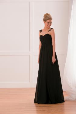 US$142.99 2015 Zipper Up Black Scoop Chiffon Sleeveless Floor Length