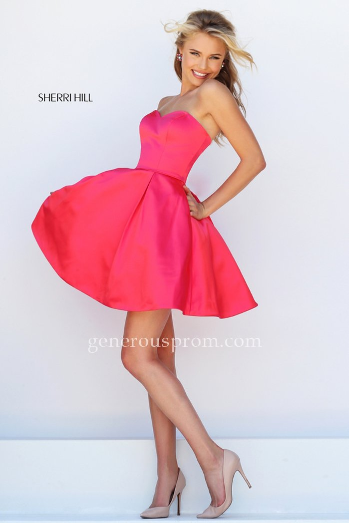 Cerise Short Sherri Hill 50228 Prom Dresses with Pockets – $150.00 : Prom Dresses   Genero ...
