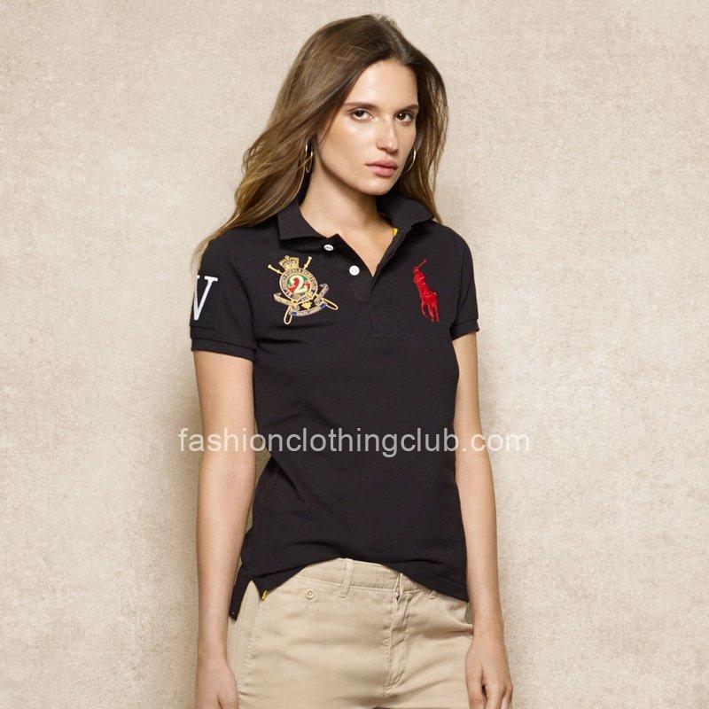 Ralph Lauren Big Pony VII Womens Black Polo Shirt [Ralph Lauren Polo Shirt] – $55.00 : T s ...