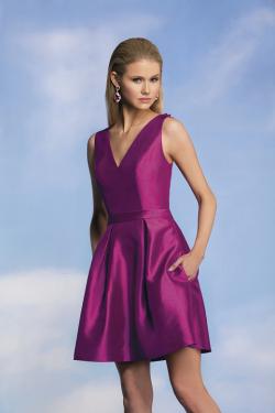 US$134.99 2015 Criss Cross V-neck Sleeveless Satin Purple Pockets Short