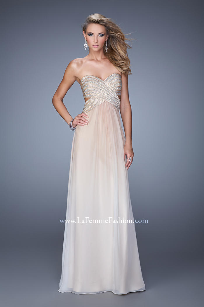 US$157.99 2015 Crystals Chiffon Floor Length Open Back Ruched Sweetheart Sleeveless