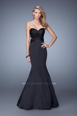 US$177.99 2015 Satin Black Open Back Floor Length Ruched Sweetheart Sleeveless Mermaid
