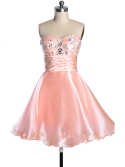 US$166.99 2015 Sleeveless Tulle Crystals Sweetheart Zipper Short Length