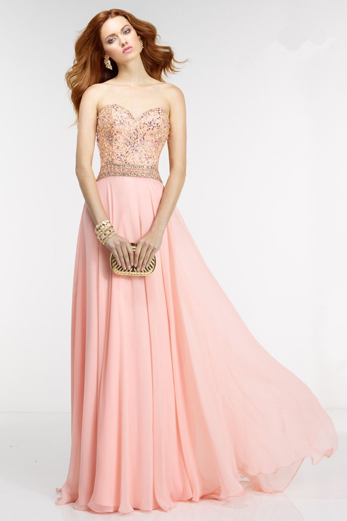 US$166.99 2016 Sweetheart Zipper Floor Length Pink Beading Ruched Chiffon Sleeveless