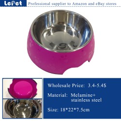 wholesale dog bowl/paw print dog bowl/pet feeder