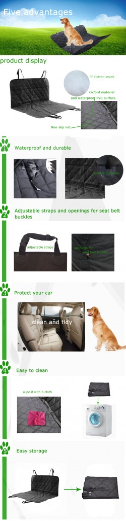Oxford dog seat cover/Car Hammock Seat Protector/dog hammock car seat